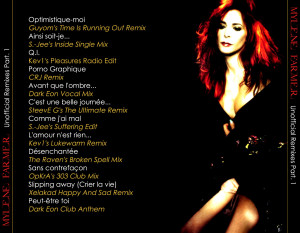 Mylène Farmer - Unofficial Remixes Part. 1 (Back)