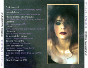 Mylène Farmer - Unofficial Remixes Part. 2 (Back)