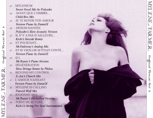 Mylène Farmer - Unofficial Remixes Part. 6 (Back)