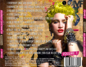 Madonna The Immaculate Celebration back vol 1